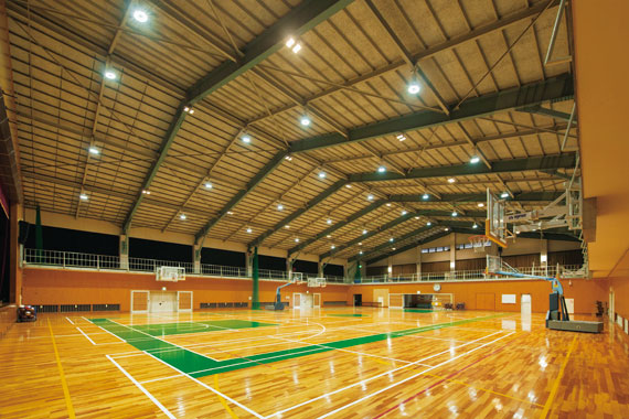 Image gallery lighting high school gyms for How much does it cost to build a basketball gymnasium