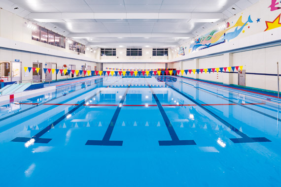 indoor pool lighting contemporary the 6lane 25m heated swimming pool is brightly and safely lit with ledioc ceiling hb led indoor lighting fixtures meguro city komaba gymnasium indoor pool sports area flood
